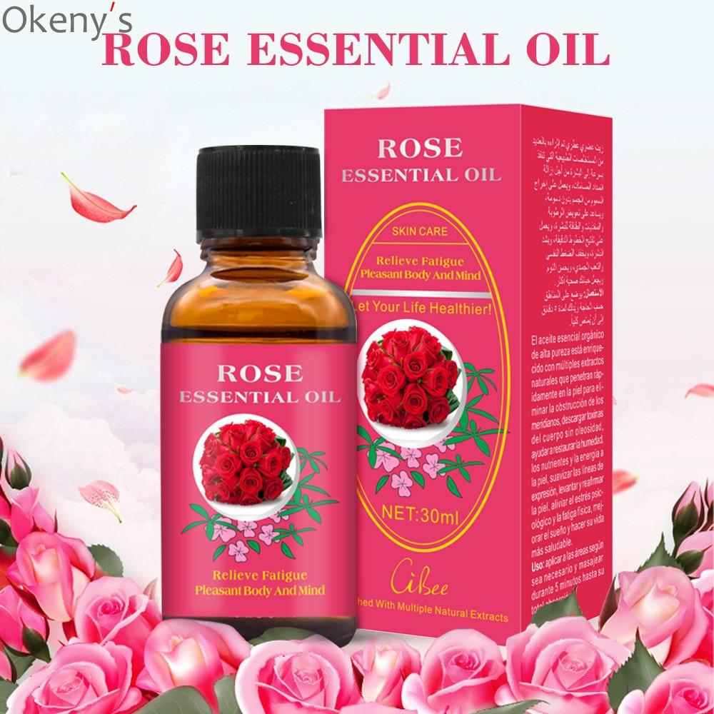 Óleo essencial de rosa do corpo do óleo 30ml da massagem do corpo do óleo essencial da planta pura do produto novo para o spa da terapia do raspe