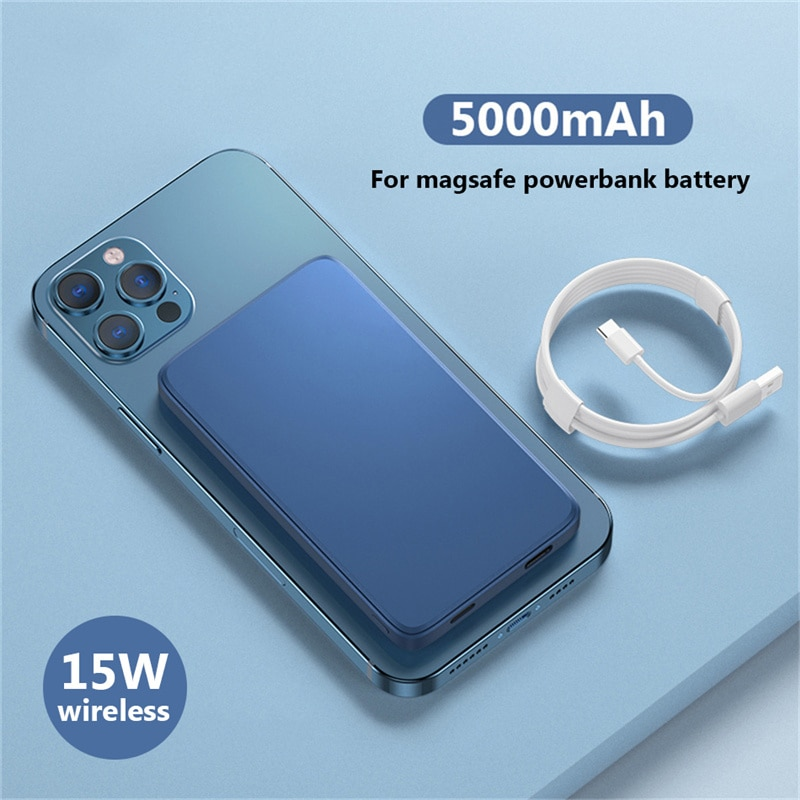 15W Magnetic Wireless Power Bank For Magsafe 10000mAh powerbank Charger For iphone 12 12proMax xiaomi Magnet External Battery
