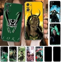 marvel avengers loki cartoon phone case for xiaomi redmi note 10 9 9s 8 7 6 5 a pro s t black cover silicone back pre style
