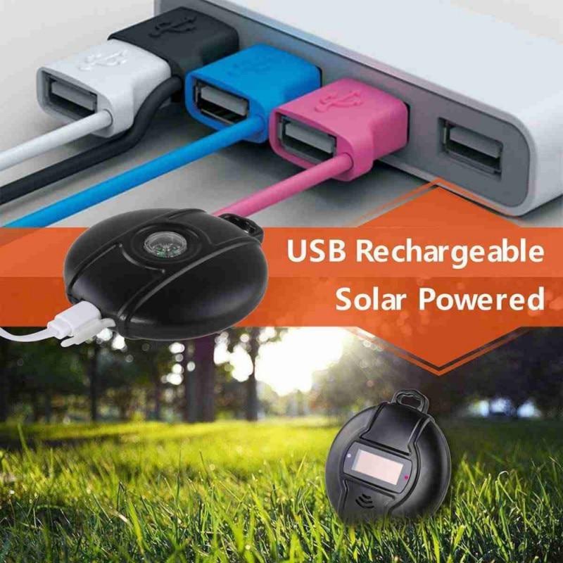 KKWL exterior repelente ultrasónico de plagas portátil de energía Solar Micro USB repelente de mosquitos jardín césped