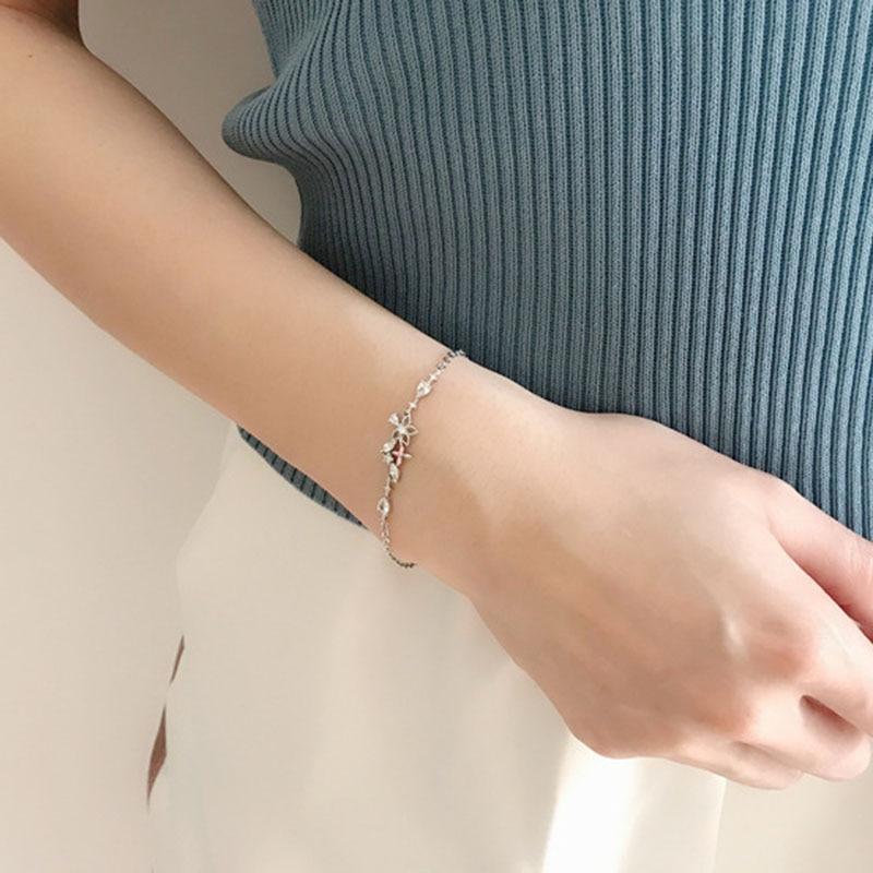 Designer Chrams Bracelet 2021 Anime Flash Zircon Flowers Bracelets for Women Jewelry Accessories Wholesale Bulk Pulseras Mujer