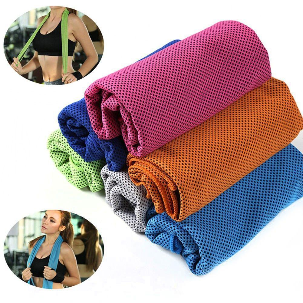 New Sports Ice Towel Reusable Enduring Cooling Towel Quick Dry Instant Ice Cold Pad Rapid Cooling Sweat Tool Running multicolor sports face towel cooling ice utility enduring instant cozy ice cold for enduring running jogging gym