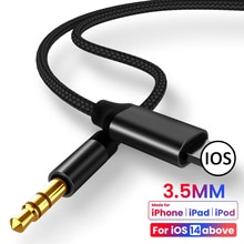 Audio splitter Cable for Iphone 8 Phone Accessories Pin To 3.5 Mm Jack Aux Cable Headphone Adapter f