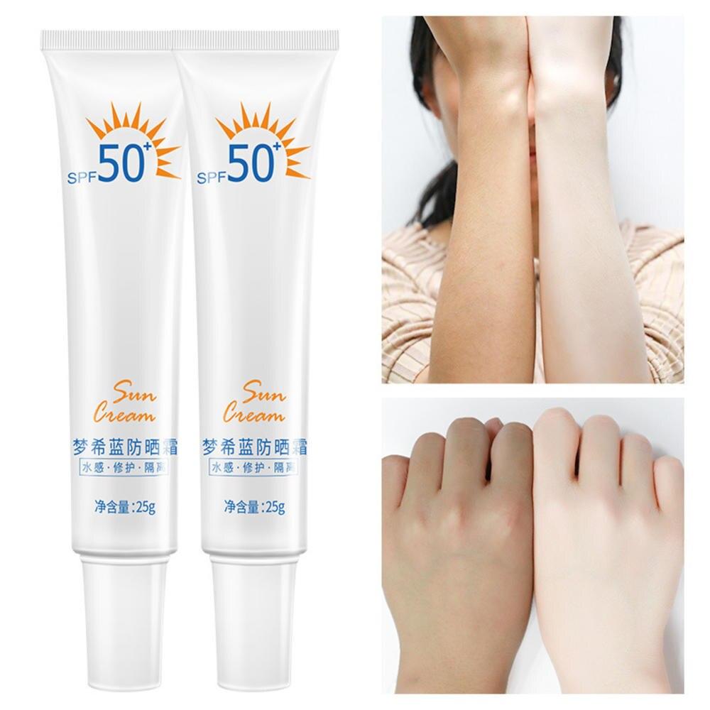 Portable 25g Face Body Sunscreen Whitening Sunblock Cream Anti-aging Oil Control Moisturizing SPF 50 Skin Protective Cream