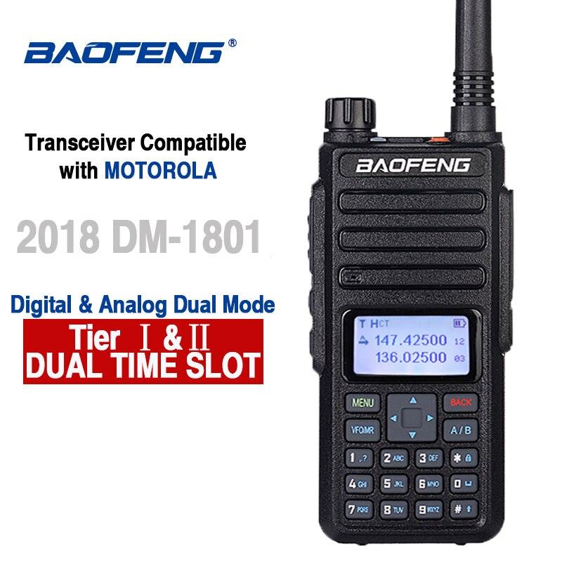 Baofeng DM-1801 DMR راديو المزدوج الفرقة اسلكية تخاطب الطبقة أنا الطبقة II التوقيت المزدوج فتحة Uhf Vhf الرقمية التناظرية راديو Comunicador محطة
