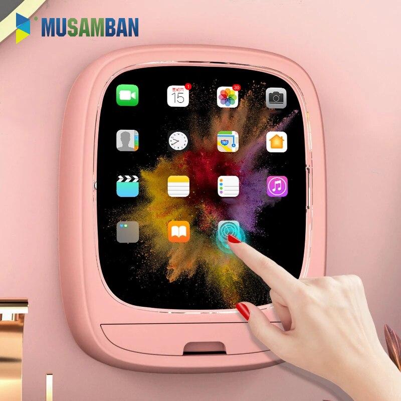 MUSAMBAN الحمام الحائط مخزن للمكياج صندوق دون اللكم صندوق تخزين مستحضرات التجميل اكسسوارات الحمام المنزلية مجموعة