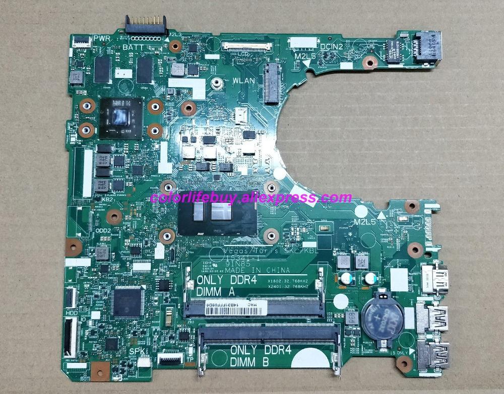 حقيقية XT2G4 0XT2G4 CN-0XT2G4 15341-1 91N85 w i3-6006U اللوحة المحمول اللوحة الأم لديل انسبايرون 14 3467 الكمبيوتر الدفتري