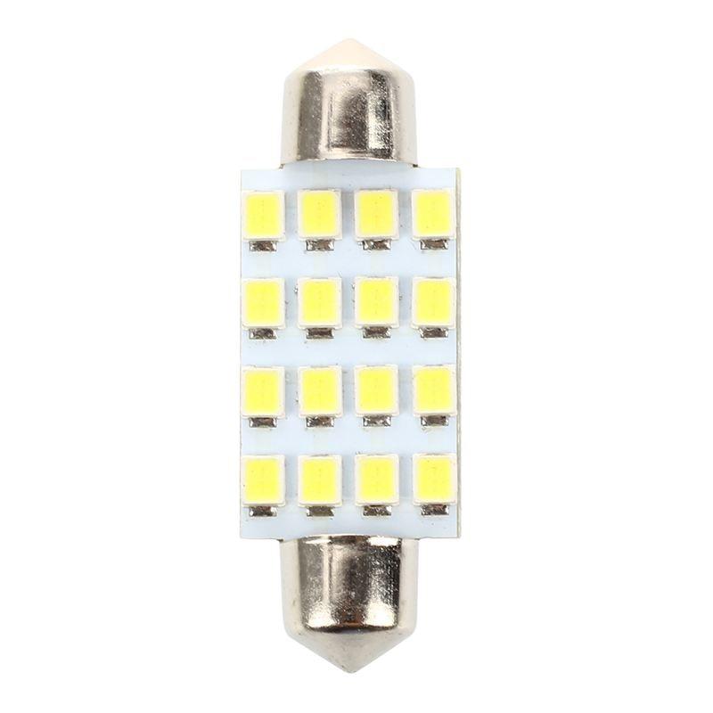 "10 Uds. 42mm 1,72 ""1210 SMD 16-LED festón e Luz Blanca 211-2 212-2"