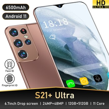 Galay S21 Ultra Global Version Smartphone 12GB RAM 512GB ROM 4G 5G 48MP Rear Camera Android11 MTK6889 Undefined Mobile Phone