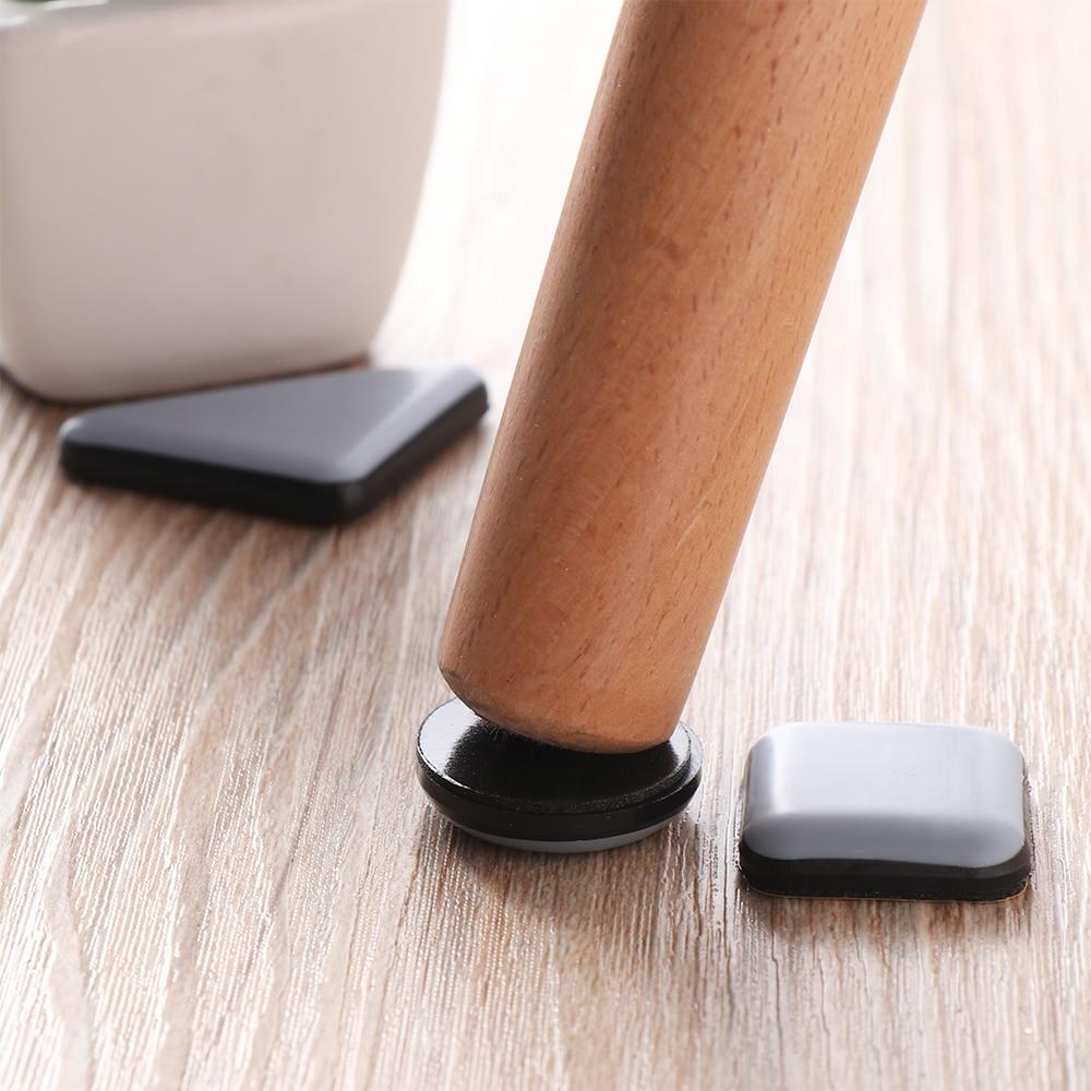 Самоклеящиеся накладки-Слайдеры для ножек мебели, коврик для ног из войлока, нескользящий коврик, бампер, демпфер, защита для стула, стола, пола, 4 шт.-3