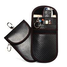 Faraday Käfig Key Fob Schutz RFID-Blocking Faraday Tasche Tasche Auto Schlüssel Halter Anti-Hacking Keyless Entry Signal blocker Defender