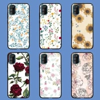 flower drawing phone case for redmi 4x 5plus 6 7 8a 9 note 4 8 8t 9 10 pro cover fundas coque