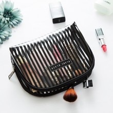 Snailhouse Waterproof PVC Transparent Cosmetic Bag Women Fashion Travel Storage Bags Case Wash Bag Inside Zipper Bag Organizer