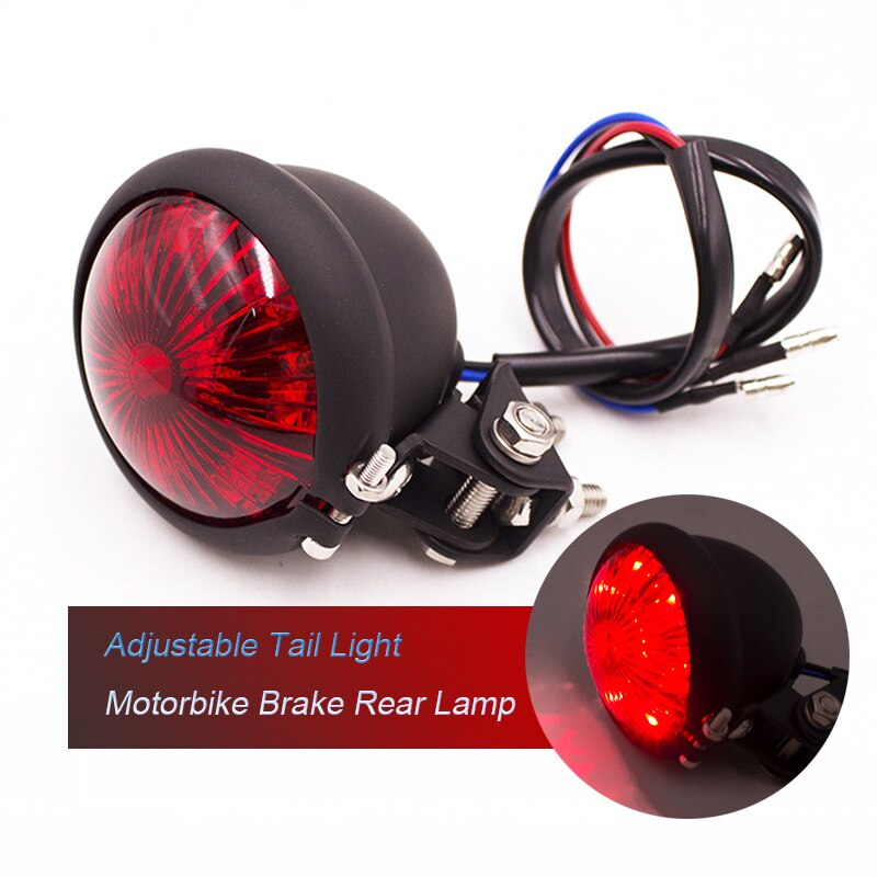 Universal LED Red Adjustable Motorcycle Signal Tail Light Brake Rear
