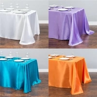 rectangular round wedding satin tableclothes table cover table topper table overlay for wedding party banquet decoration