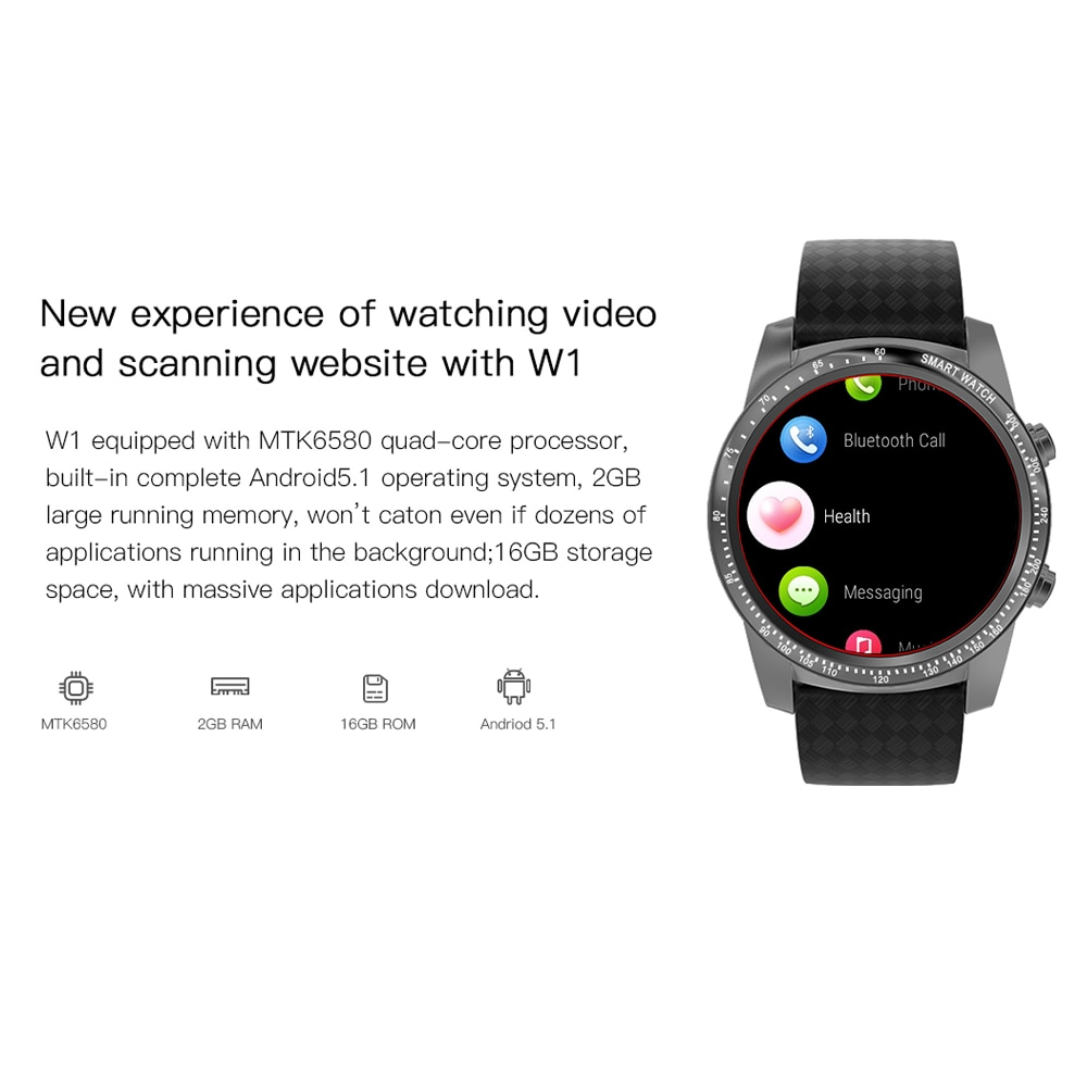 ALLCALL Awatch 1.39 inch Smart Watch for Men 3G Watches Support SIM GPS WiFi Smartwatch For Xiaomi Apple Huawei Samsung Phone