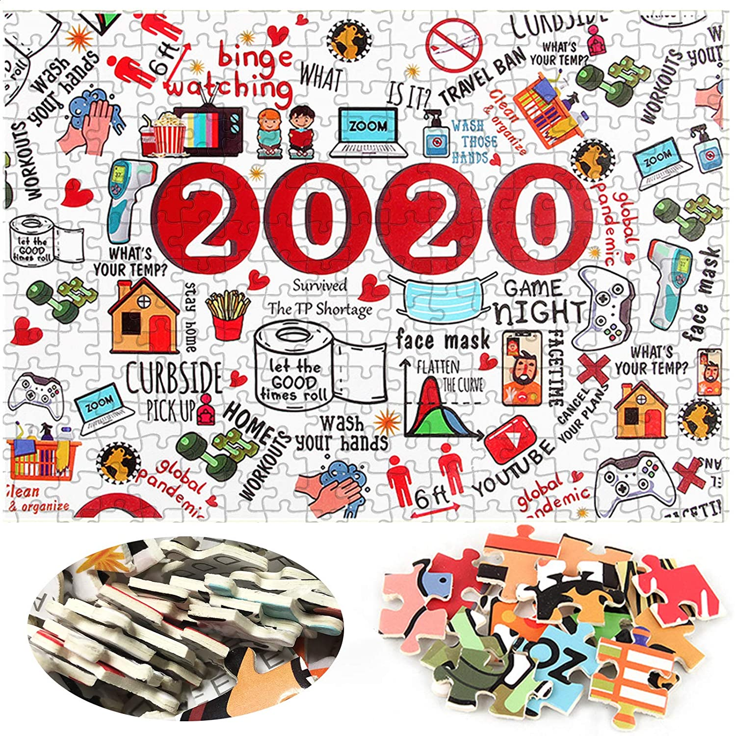 jigsaw black 2mm Jigsaw Puzzles 2020, Jigsaw Puzzles 1000 Pieces, Jigsaw Puzzle for Adult 1000 Pieces, Thick Paper Jigsaw Puzzles Game Gift f