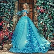 Bleu clair robe de bal robes de bal 2020 longue formelle fête robes de soirée femmes été vestidos de 15 anos Fiesta Largos Elegantes