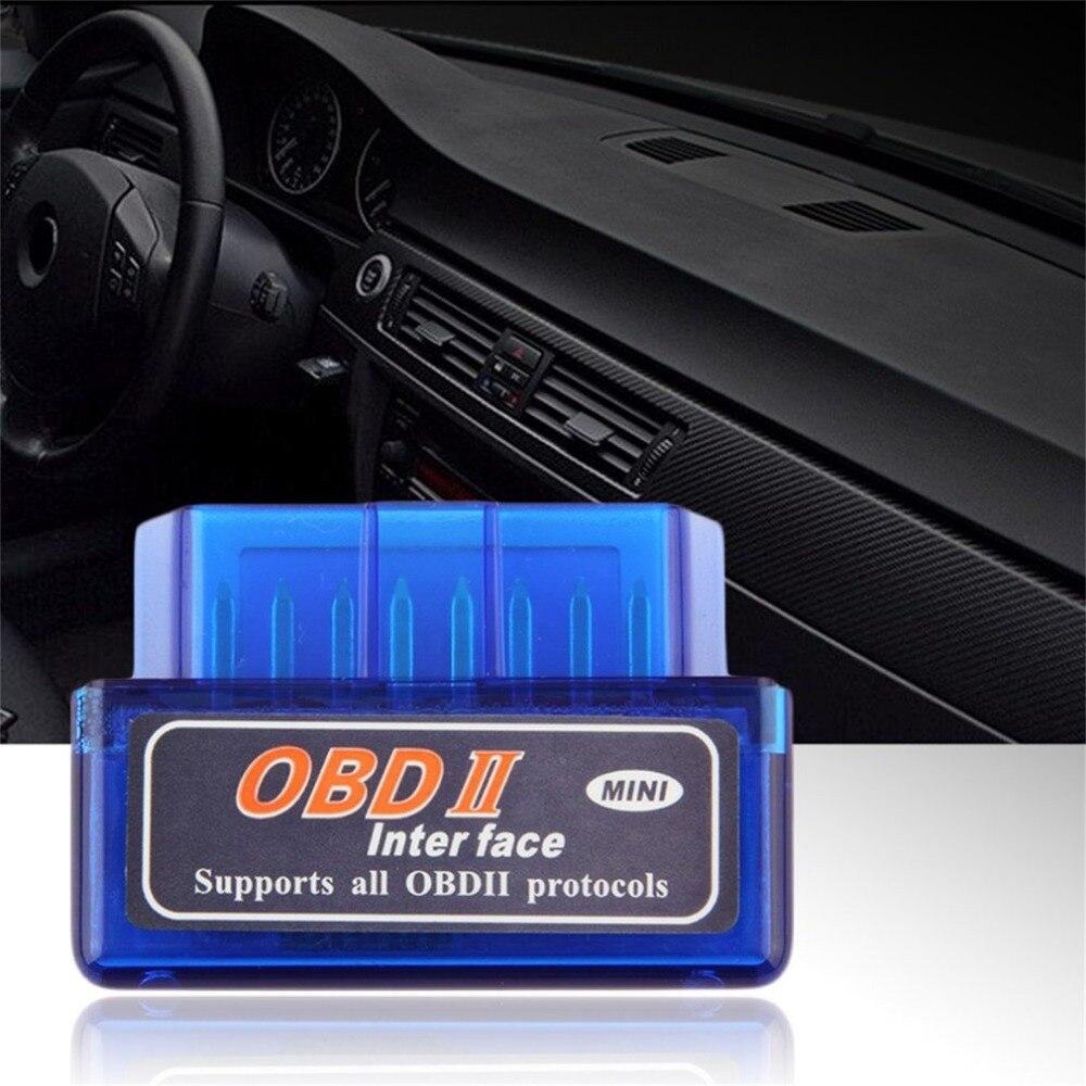 Мини ELM327 OBD2 II беспроводной Bluetooth Автомобильный диагностический интерфейс сканер инструмент синий портативный ABS пластиковый инструмент Горячая продажа