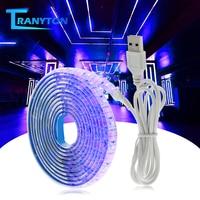 УФ Светодиодные ленты светильник 5V DC 2835 0,5 м, 1 м, 2 м, Водонепроницаемый фиолетовой ленточкой ультрафиолетового USB трос лента для DJ флуоресцен...