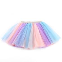 Girls Skirts Baby Ballet Dance Rainbow Tutu Toddler Star Glitter Printed Ball Gown Party Clothes Kids Skirt Children Clothes