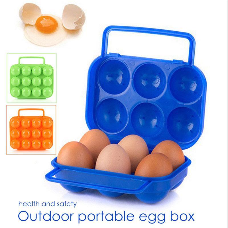 Caja de huevos de barbacoa fuerte AT6360 12 rejilla de plástico de madera de leña de carbón de Gas campamento de Camping caja de huevos de senderismo de viaje al aire libre