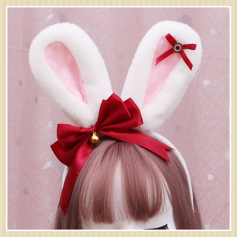 Bunny Ears Anime Accessories  Lolita Hair Accessories   Cat Ears Head Band  Lolita Hair Bow Anime  Horns Cosplay  Cat Ears freee shipping cos anime ears cats hairpins diffuse maid catwoman lolita soft cute sister card