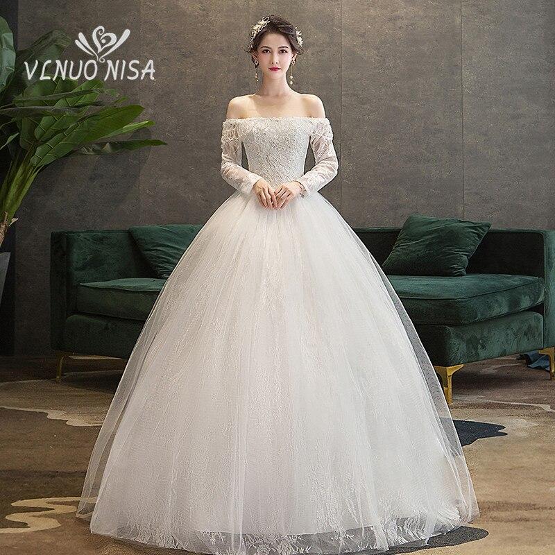 Vestido De Noiva Новое кружевное свадебное платье элегантное с вырезом лодочкой бисером