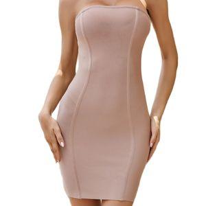 Summer Bandage Dress Women Vestidos 2020 Sexy Sleeveless Strapless Club Dress Celebrity Evening
