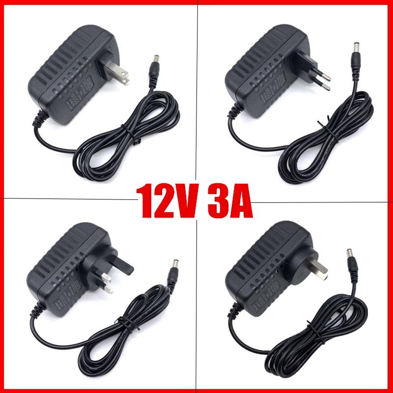 LED Driver For Led Strips Lights Power Supply DC12V 5A Plug Led Power Adapter 5A Power Plug AU EU UK US