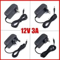 led driver for led strips lights power supply dc12v 3a plug led power adapter 3a power plug au eu uk us