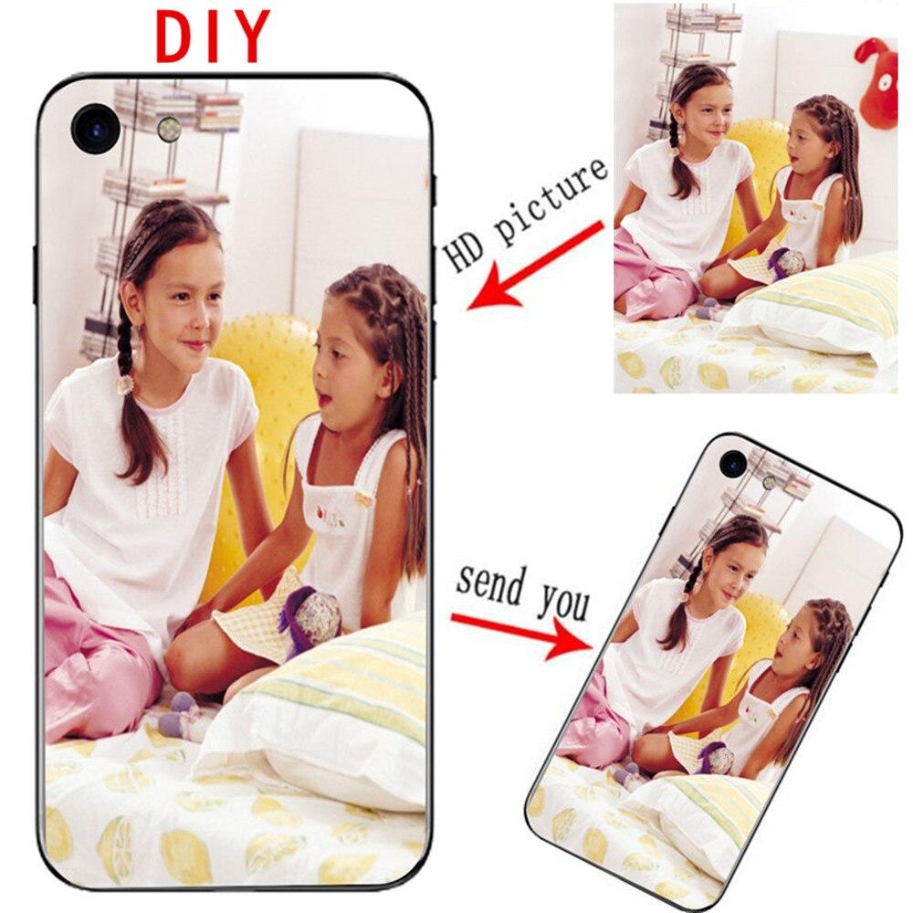 Custom DIY NAME Logo Photo Cover phone Case for huawei Ascend P7 P8 P9 P10 P20 lite plus PRO G8 G7 honor 6A 6X 6C Mate 10 9 8 7