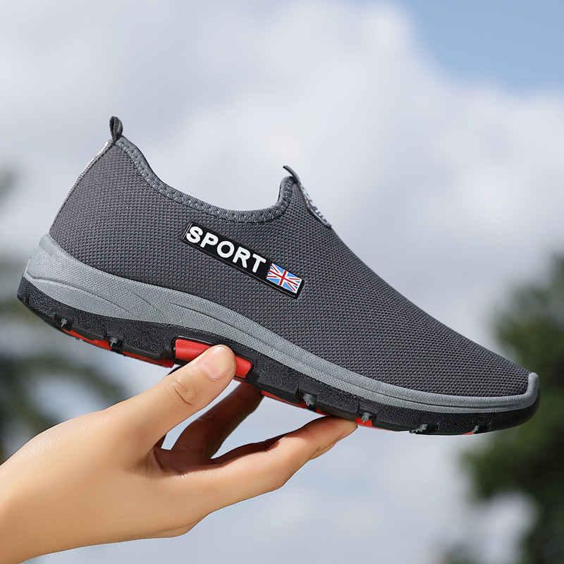 Zapatillas deportivas con tejido de mosca para hombre, Zapatos planos transpirables de...