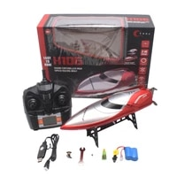 h106 red racing remote control boat rc ship 2 4ghz 4 channel 28kmh speedboat toys gift high speed rc boat with lcd screen