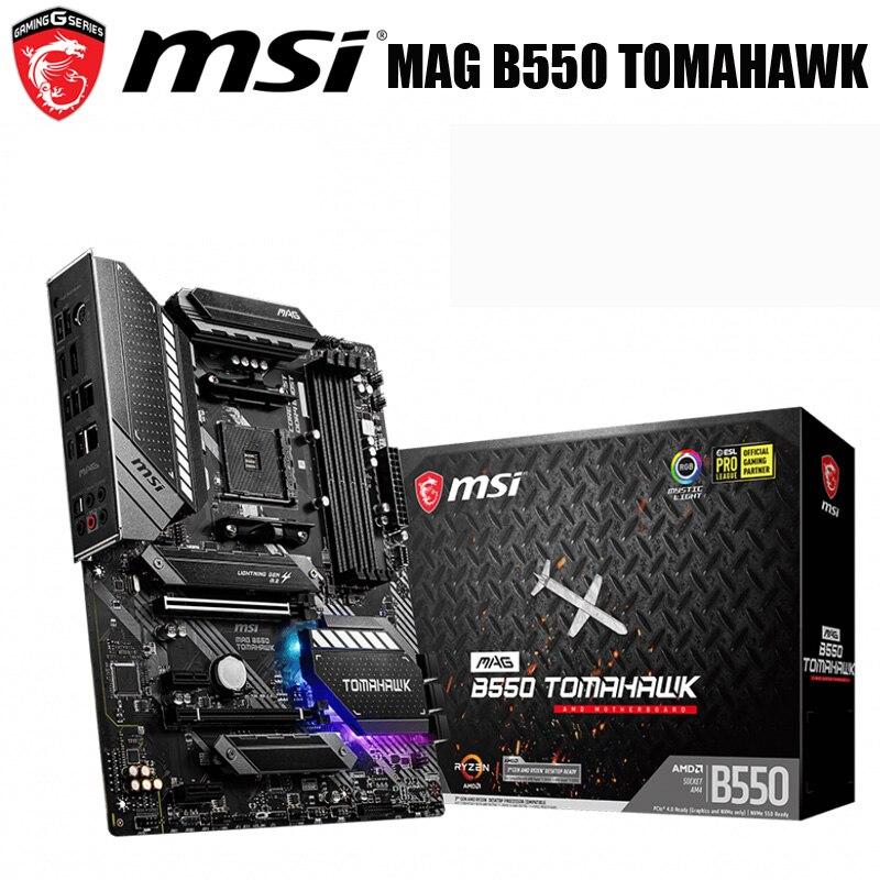 مقبس AM4 MSI B550 لوحة أم تومهاوك AMD B550 AM4 128GB DDR4 PCI-E 4.0 HDMI متوافقة مع سطح المكتب B550 اللوحة الرئيسية AM4 M.2 ATX