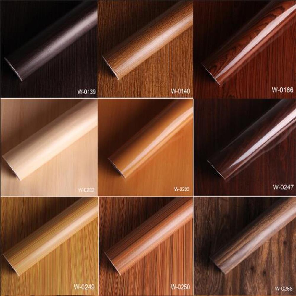 SUNICE-papier peint autocollant   Meubles de Table, rénovation PVC, Grain de bois, pour décoration intérieure darmoire/voiture, 1.24*0.5m
