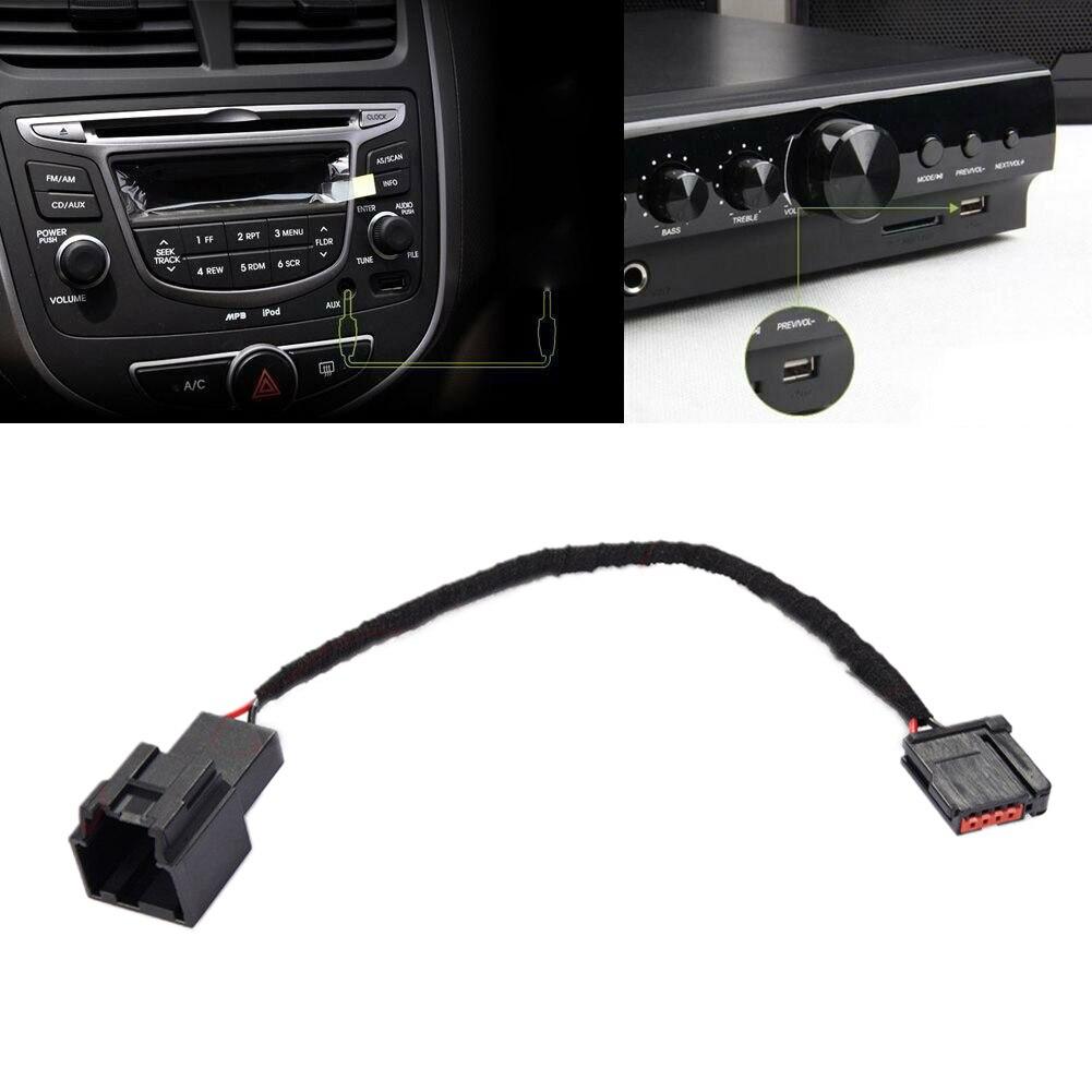 USB Media Hub Adapter do wiązki kabli okablowanie samochodowe Automotive lekkie złącze wymiana kabla pojazdu przenośny dla Ford Carplay