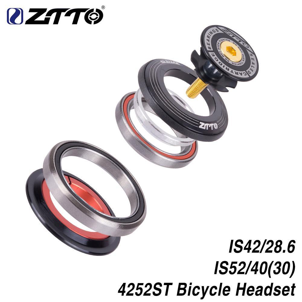 ZTTO-horquilla delantera para bicicleta de montaña, de 42 a 52mm, con rodamientos de tubo cónicos, accesorios para bicicletas