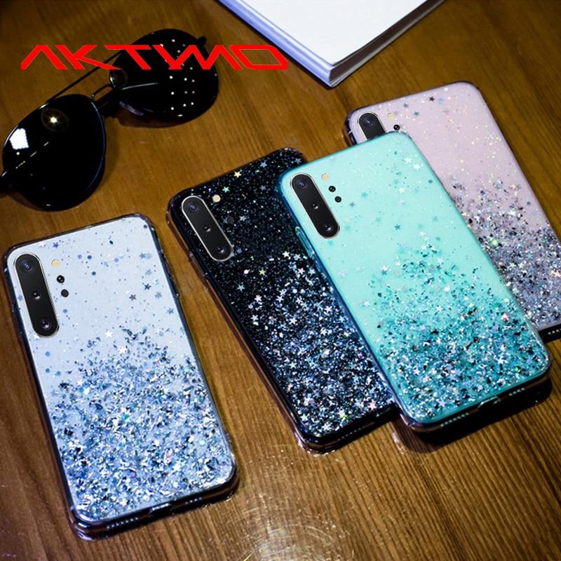 Блестящий чехол со звездой для Samsung Galaxy A10 A10S A20 A20S A20E A30 A30S A40 A40S A50 A50S S8 S9 S10 S20 Plus A9 A7 2018