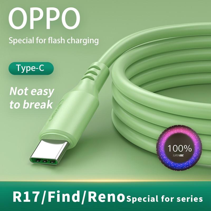 Accesorios para teléfono móvil Oppo, Cable USB tipo C, 4A Fash, Cable...