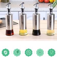 Distributeur de bouteilles dassaisonnement en verre   Sans plomb, en acier inoxydable, bouteille dhuile dolive, bouteilles de stockage pour le vinaigre, outils de cuisine