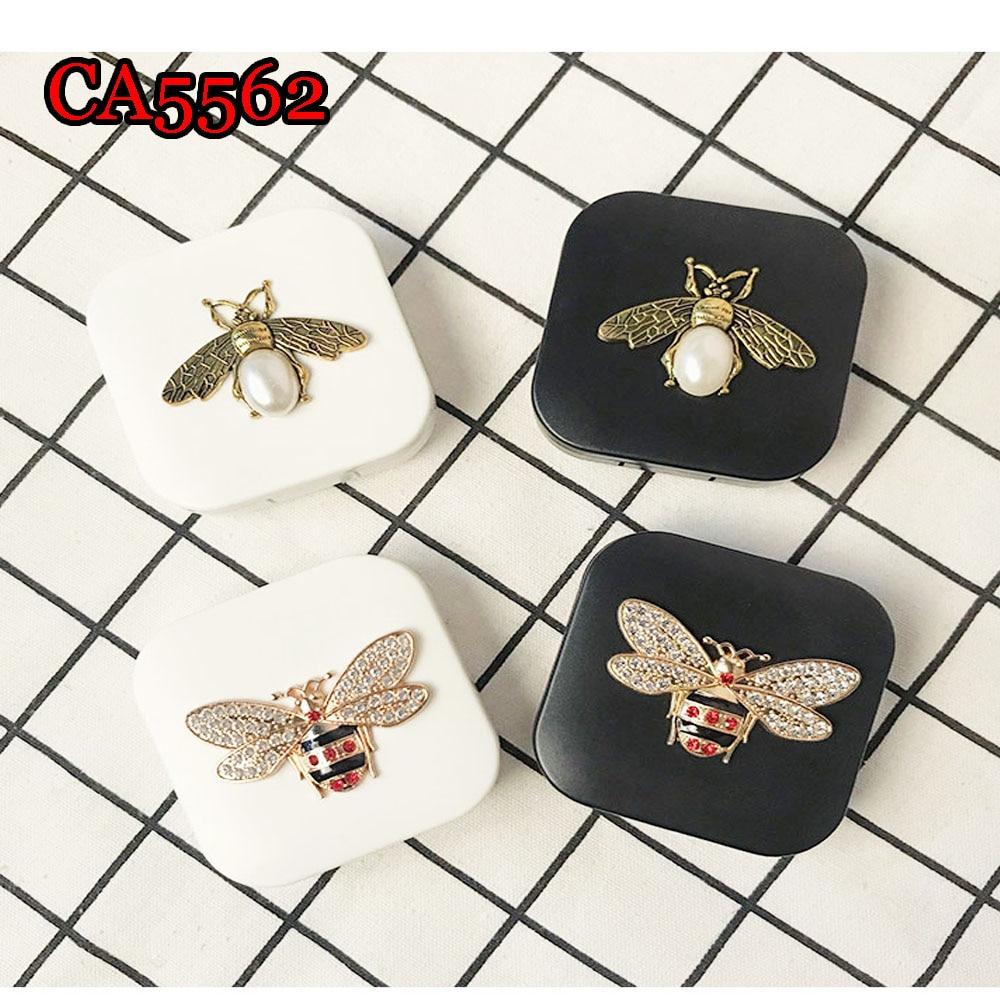 Cartoon Contact Lens Box Mates Bee Beatle Anime Luxury Travel Kit Box with Mirror CA5562