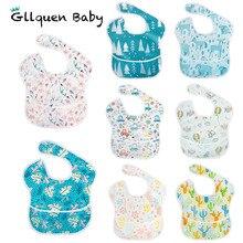 Babadores para bebês, babadores à prova d água 1o0% de poliéster tpu com revestimento para alimentação de bebês