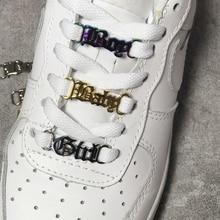 Baby Girl AF Shoelace Buckle Metal Shoelace Shoe Chamr Accessories Metal Shoelace Lock DIY Sports Sh
