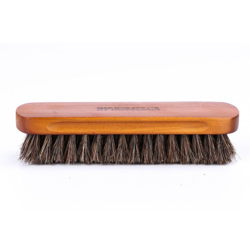 Horseshoe shoe brush polish real natural horse polishing tool soft bootpolish cleaning brush for suede nubuck boot enlarge