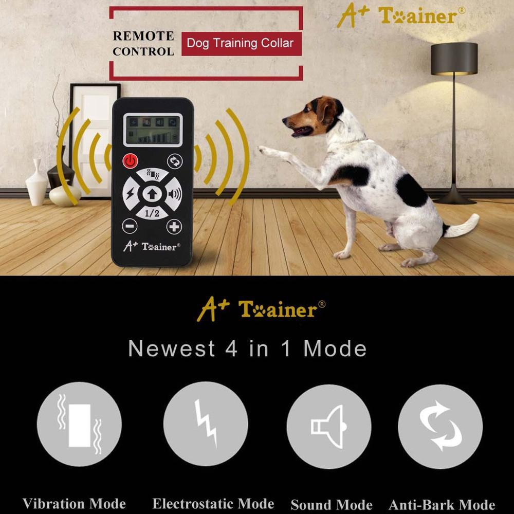 Treinamento do Cão 800m de Controle Remoto Elétrico Colar Choque Dispositivo Casca Rolha – Carregamento Usb Integrado Automático