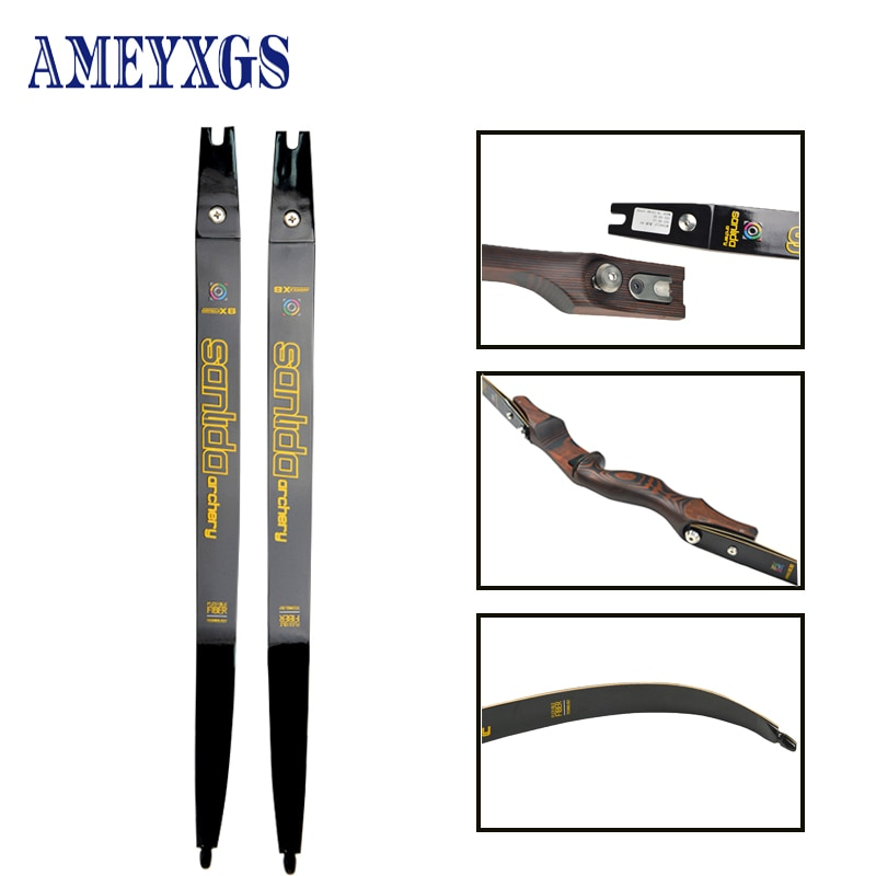 1pair 20-44lbs Archery Recurve Bow Limbs DIY Hunting Accessories High-End Military-Grade Composite Material ILF Insert