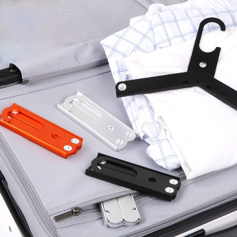 Portable Coat Hanger Clothes Aluminum alloy multi-functional folding hanger for outdoor travel hangers clothes
