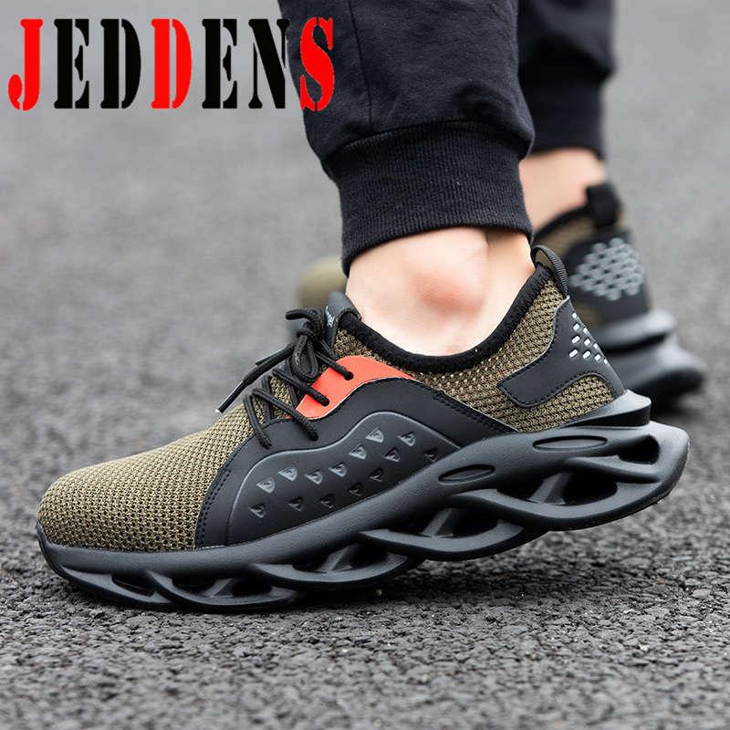 Zapatilla de hombre a prueba de pinchazos, calzado deportivo de gran tamaño para hombre, puntera de acero, calzado antideslizante para correr, calzado de seguridad para construcción Z6