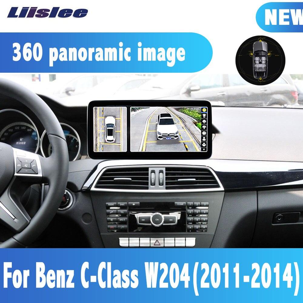 Liislee 4 + 64G Android 10.0 lecteur multimédia 360 caméra pour Benz classe C W204 2011-2014 Navigation BT WIFI
